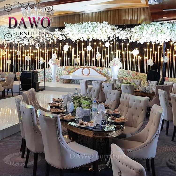 China High End Home Furniture Vendor European Luxury Antique Armchair Diamond Dining Chair
