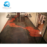 100% Solid Epoxy Resin and Hardener Metallic Floor for Coating and Paint