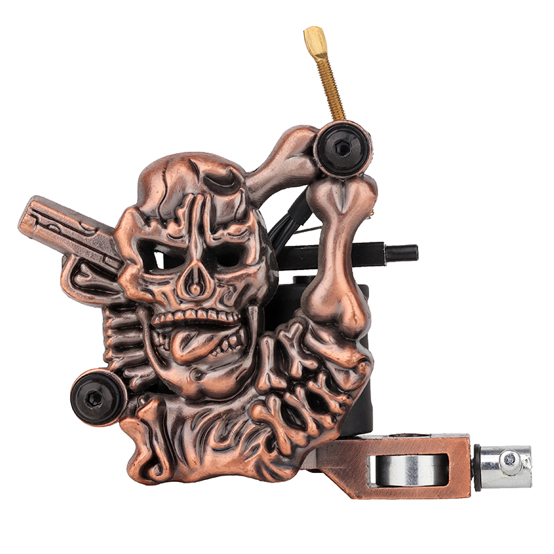 over 20 years experience/supplier of tattoo companies /OEM Embossment Skull coil Tattoo Machine