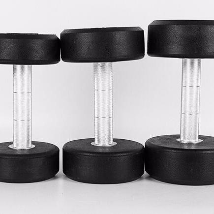 Manubri set rotonda di gomma rivestito manubri
