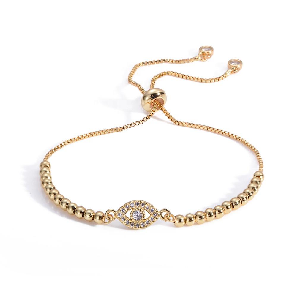 Femmes Dianty Mal Or Diamant bracelet Réglable boîte chaîne Bracelet Pour Cadeaux