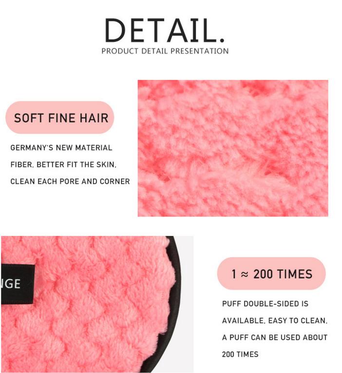 Private Label Высокое качество Мягкий макияж Remover колодки Многоразовые