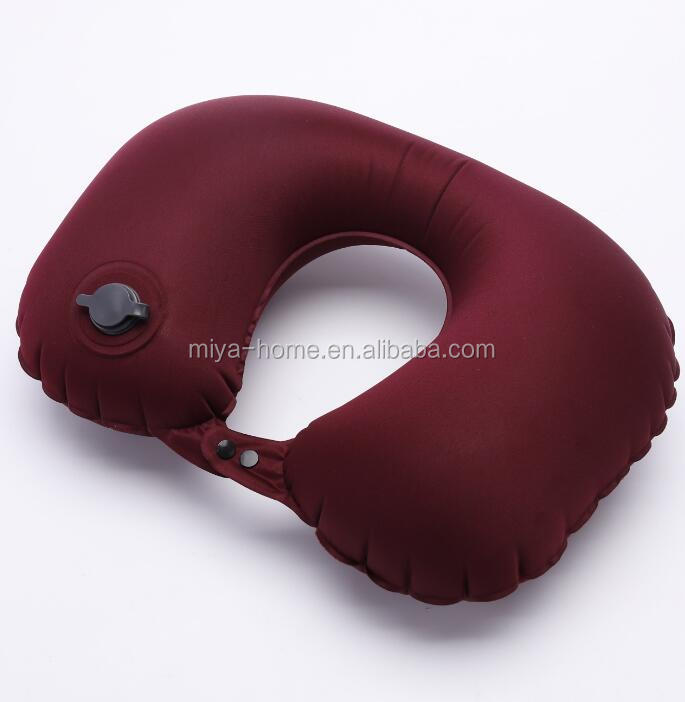 3s Rapid Blowing U Shape Inflatable Travel Neck Pillow