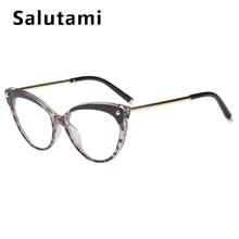 Двухцветные женские очки, кошачий глаз, цветочный принт, шикарные пикантные очки, оправа, прозрачные очки для девушек, компьютерные оттенки,...(Китай)
