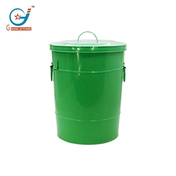 29L wholesale recycling bins kitchen compost bin outdoor Metal food trash can sanitary disposal bins with Lids