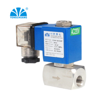 high pressure piston pilot operated solenoid valve for hot water, compressed air,watar,oil normally closed 12V with PARKER seals