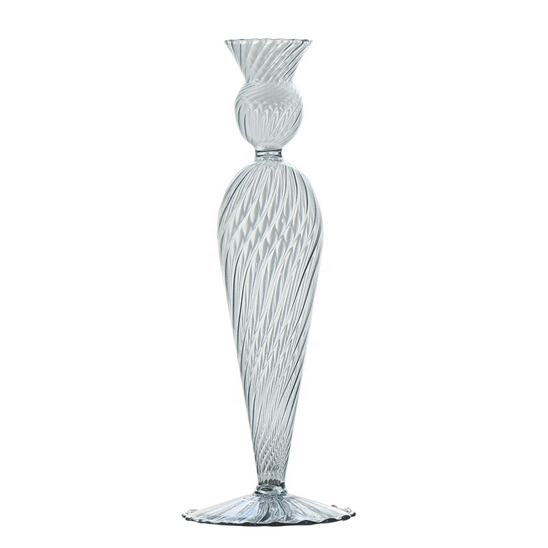 Light Luxury Creative Glass Wax Table Ornaments Candlestick For Dining Room Living Room Decoration