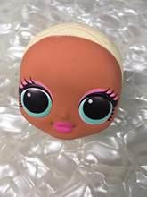 Не волосы мода сестра кукла голова игрушка Lols девушка лысый голова DIY кукла игрушка часть девушка мода DIY туалетный игрушки головы размер 7X8 ...(Китай)
