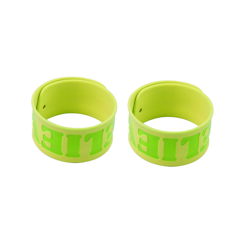 High End Vijf Star Factory Silicone Wrist Band Custom Slap Armbanden