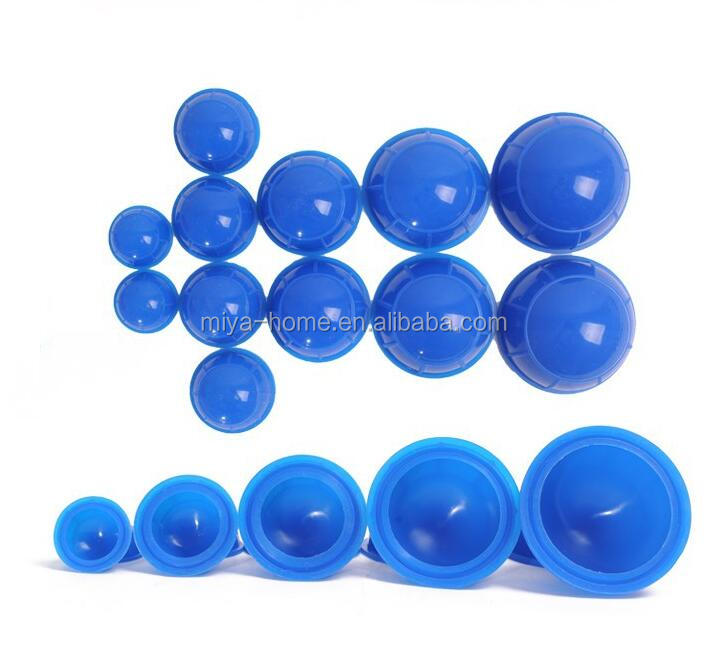12pcs Silicone Massage Cupping / Humidity Cupping Tank / Portable Household Type Tank