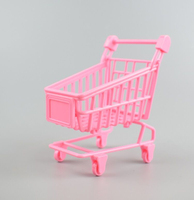 Best selling decorative small toy mini dividend shopping cart toy
