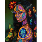 Diy 5d Diamond Painting Painted African Woman And Flower Butterfly Picture Bird Diamond Embroidery Wall Art Home Decor
