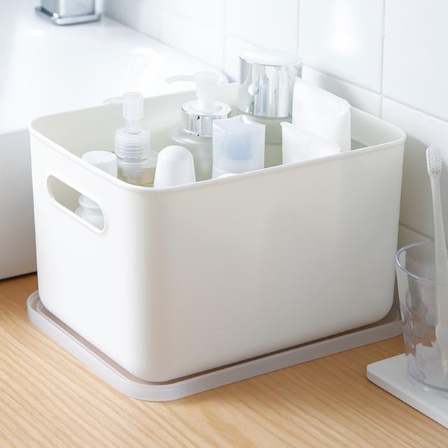 SHIMOYAMA Portable Plastic Storage Home Storage Plastic White Stackable Storage Box with lid 5 types