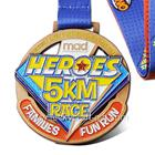Custom Logo Zinc Alloy Run Race Marathon Color Fiesta Sports Medals
