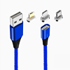 Blue,1 cable+3 plugs(micro,ios,type c)