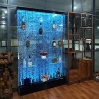 LED water bubble wall useful wine cabinet interior luxury modern home decoration