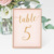 4x6 Custom Double Sided Letter Luxury Paper Blank Gold Cards Party Decoration Wedding Customers Table Numbers for Wedding
