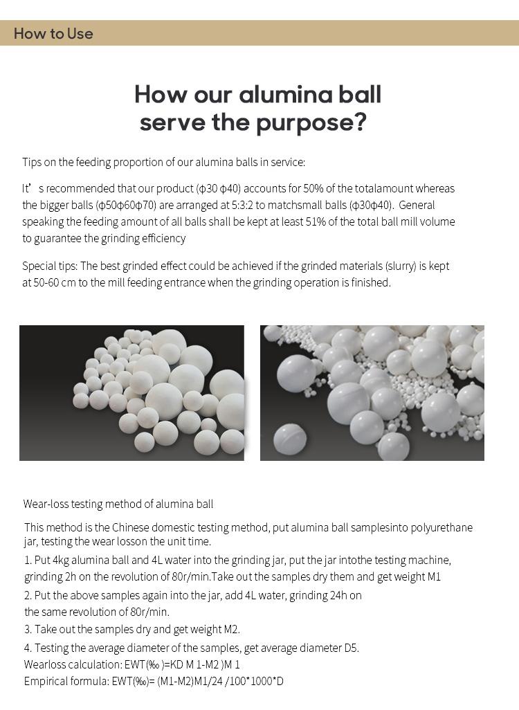 Msds De Código Hs 1 Polegadas Grande 6mm Mineral Cozimento Para Moinho De Bolas de Alta Alumina Bola de Cerâmica de Alumina