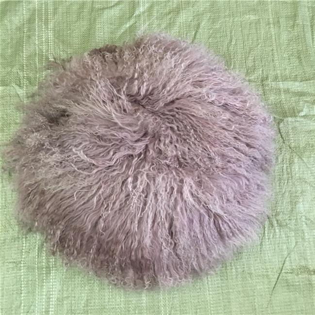 100% Fur Throw Pillow Cover Cushion custom colors