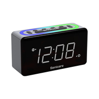 New design clock alarm led 7 color change digital with plug
