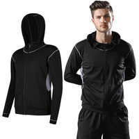 High Quality Custom Print Mens Sports Dry Fit Workout Running Fitness Yoga Wear Hoodie