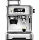 1,58mm filter 20bar ULKA pump built in grinder espresso coffee machine LCD screen espresso coffee maker with grinder