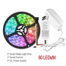 1-5 м 30/60 светодиодный s/M 2811 светодиодный светильник-полоска для шкафа, кухни, прикроватная лампа, приложение управления, светодиодный WS2811 5050 ...(Китай)