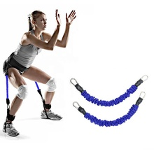Widerstand Band Multifunktions <span class=keywords><strong>Ausbildung</strong></span> 2 Rohr Bein Exerciser Elastische Pull Seil Bands Yoga Fitness Fuß Pedal Bodybuilding Sit-Up