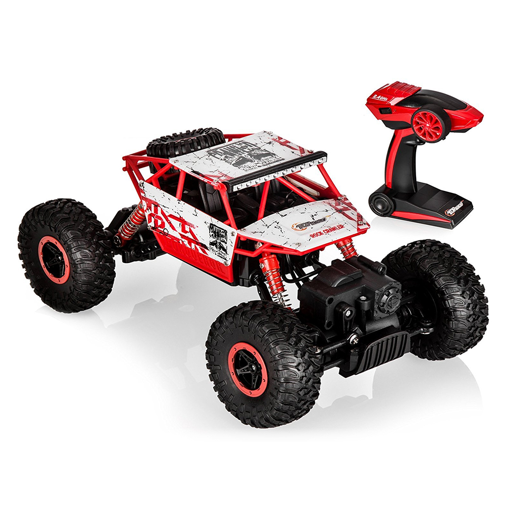 1:18 Top Race Radio Controlled Toy RC Rock Crawler 2.4Ghz Trasmettitore 4WD Off Road RC Auto