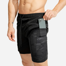Groothandel Custom Mannen Workout Running 2 In 1 Dubbeldeks Training Gym <span class=keywords><strong>Shorts</strong></span> Met Zakken