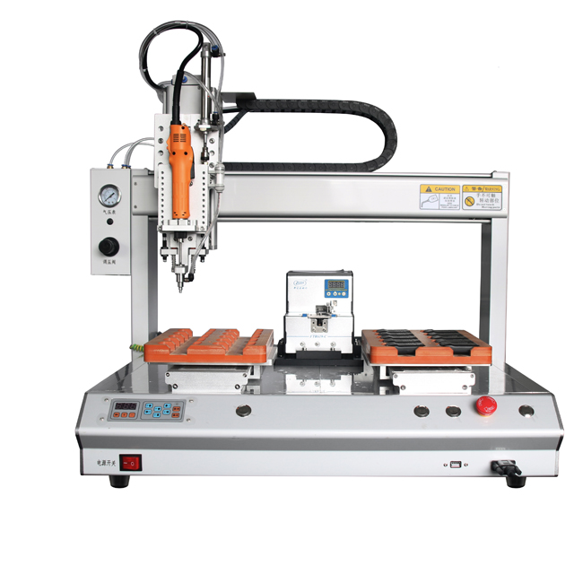 Automatic bench top desk top screw drilling tension torque screwing led lights bolt nut fastening machine screwing robot