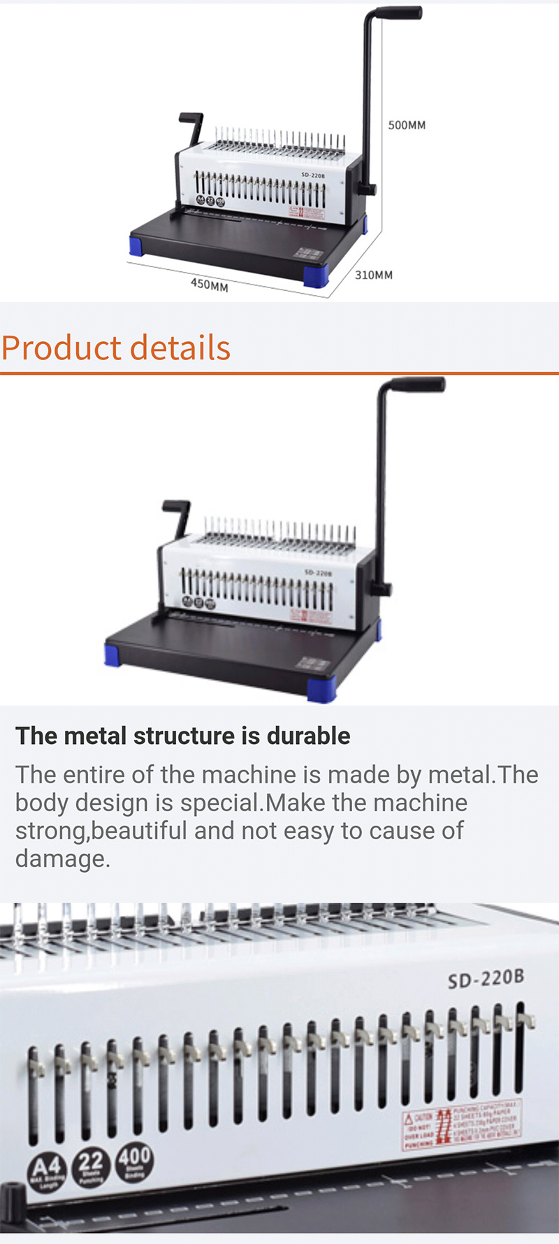 21 holes manual comb binding machine office comb binder coil book binding machines book binder machine