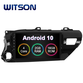WITSON Android 10.0 CAR DVD Player For Toyota Hilux 2016 Built In 2GB RAM 16GB FLASH BIG SCREEN android car dvd