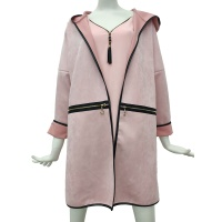 Wholesale Italian Autumn Pink Winter Women Waterproof Coat