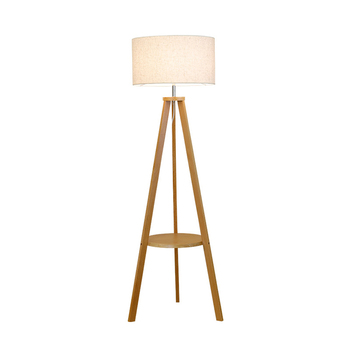 Hotel wooden tripod floor lamp for home decoration
