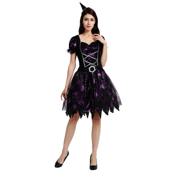 Promotion High Quality Designer Fancy Dress Witch Costume, Good Witch Plus Size Costume