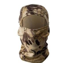 ยุทธวิธีกลางแจ้ง Quick-Drying Balaclava Full Face Mask Skin Care Led Face Mask Python Camouflage