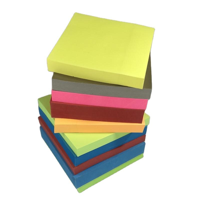 Logo Stampato su ordinazione di Carta Quadrato di Colore Solido 7.5 centimetri di Auto-adesivo Casa Ufficio Scolastico It Post Nota Note Appiccicose