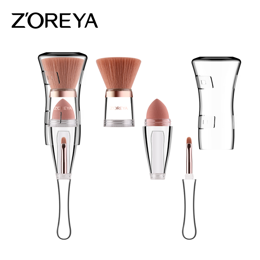 Travel Multifunction 3 in 1 Patent <strong>Makeup</strong> <strong>Brush</strong> <strong>High</strong> <strong>Quality</strong> Custom Logo Cosmetic <strong>Brush</strong>