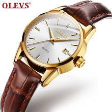 OLEVS relojes mujer 2020 Montre femme элегантные кварцевые женские часы модные кожаные наручные женские часы(Китай)