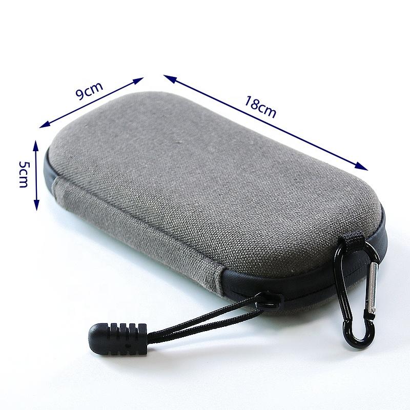 Quality Goods Rectangle Hard Case Large Capacity With Mesh Bag Elastic Handle Portable Eva Electronic Cigarette Case