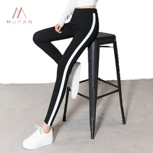 Commercio all'ingrosso di Hip Hop Casual Sport Collant Pantaloni di Cotone Patchwork Palestra <span class=keywords><strong>Leggings</strong></span>