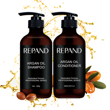 Private Label Menyesuaikan Merapikan Rambut Argan Oil Shampoo dan Conditioner Set