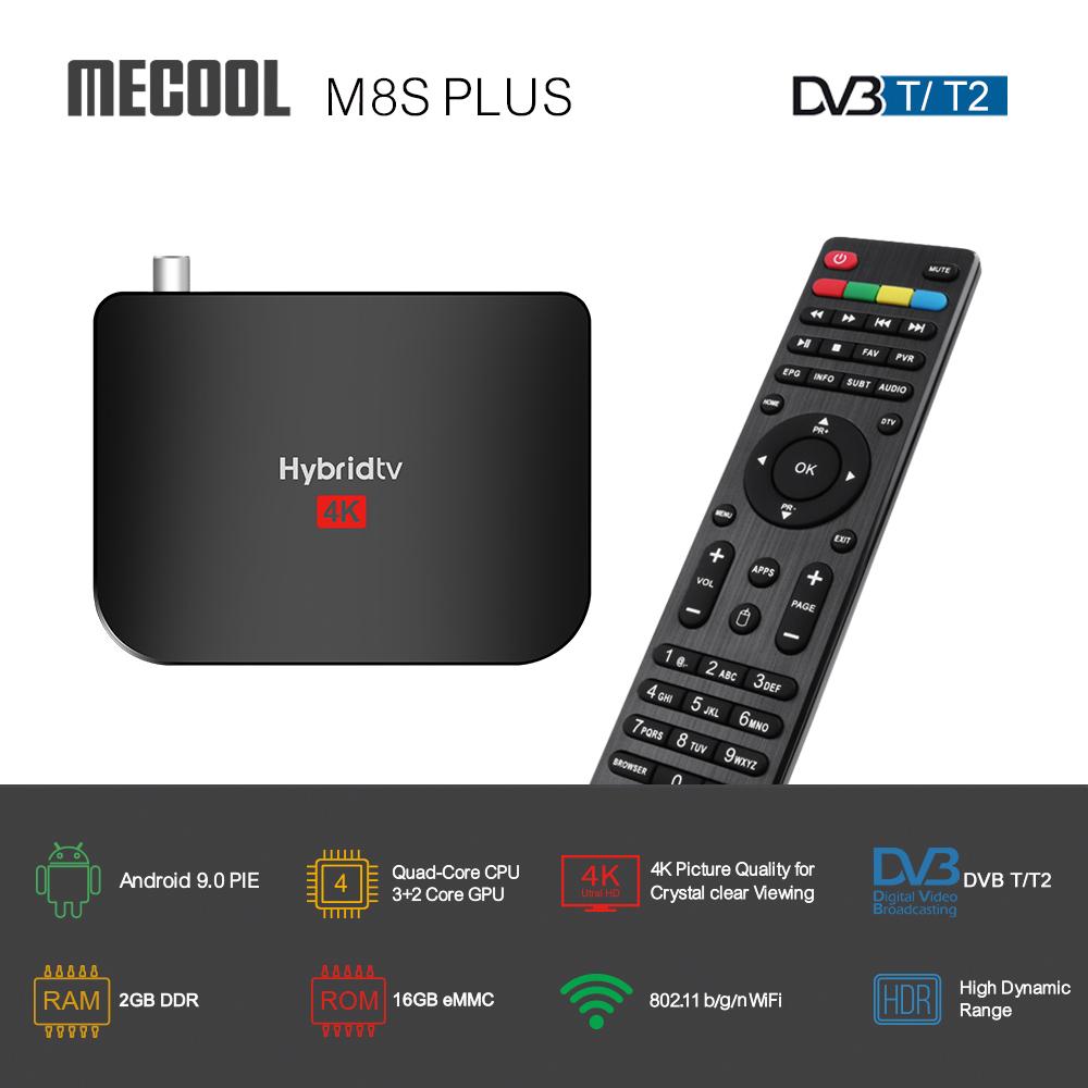 MECOOL M8S PLUS Amlogic S905 H.265 4K TV Box Android 9.0 Hybrid TV Box 4K Satellite TV Receiver DVB S2 T2