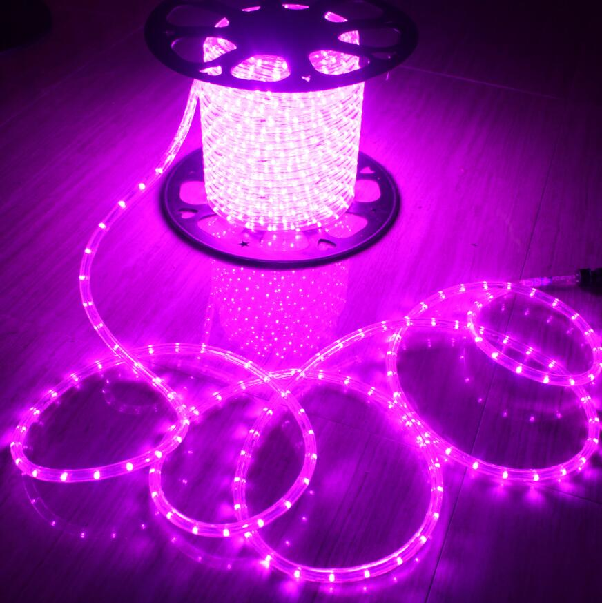 party decoration 2 wire pink christmas led rope light in china