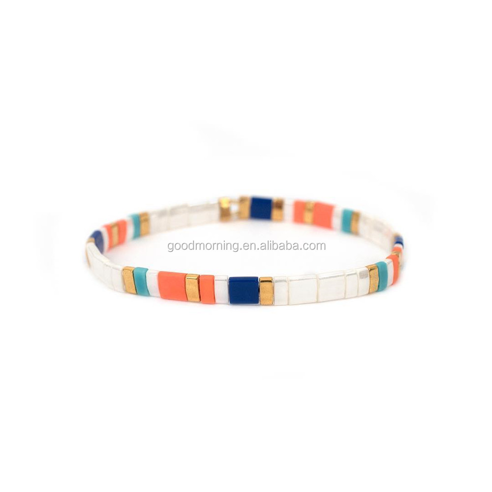 New Ceramic tile beads freedom match Bracelet