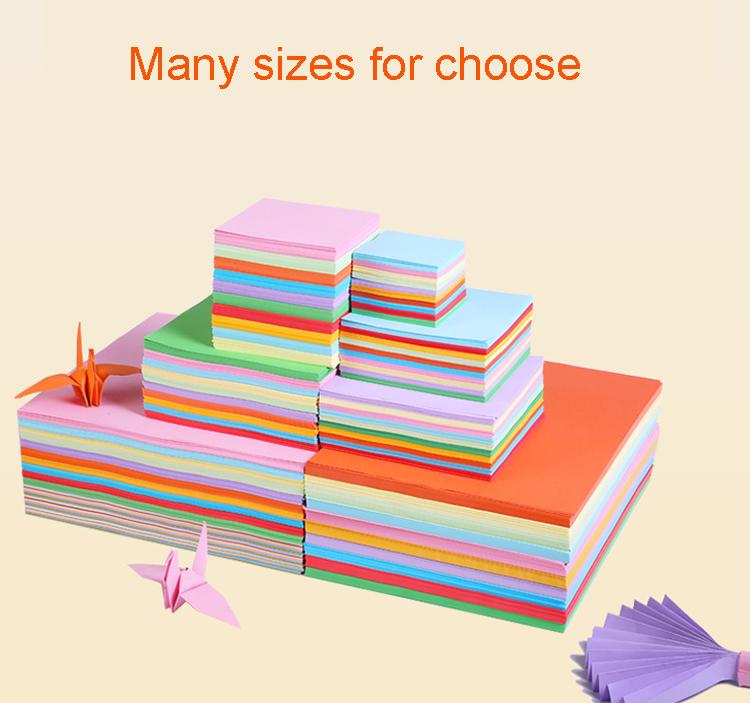 Warna-warni Kerajinan Kertas Grosir Origami Dekorasi DIY Kertas Origami untuk Anak-anak 3D Dekorasi Rumah Origami Kertas Dilipat