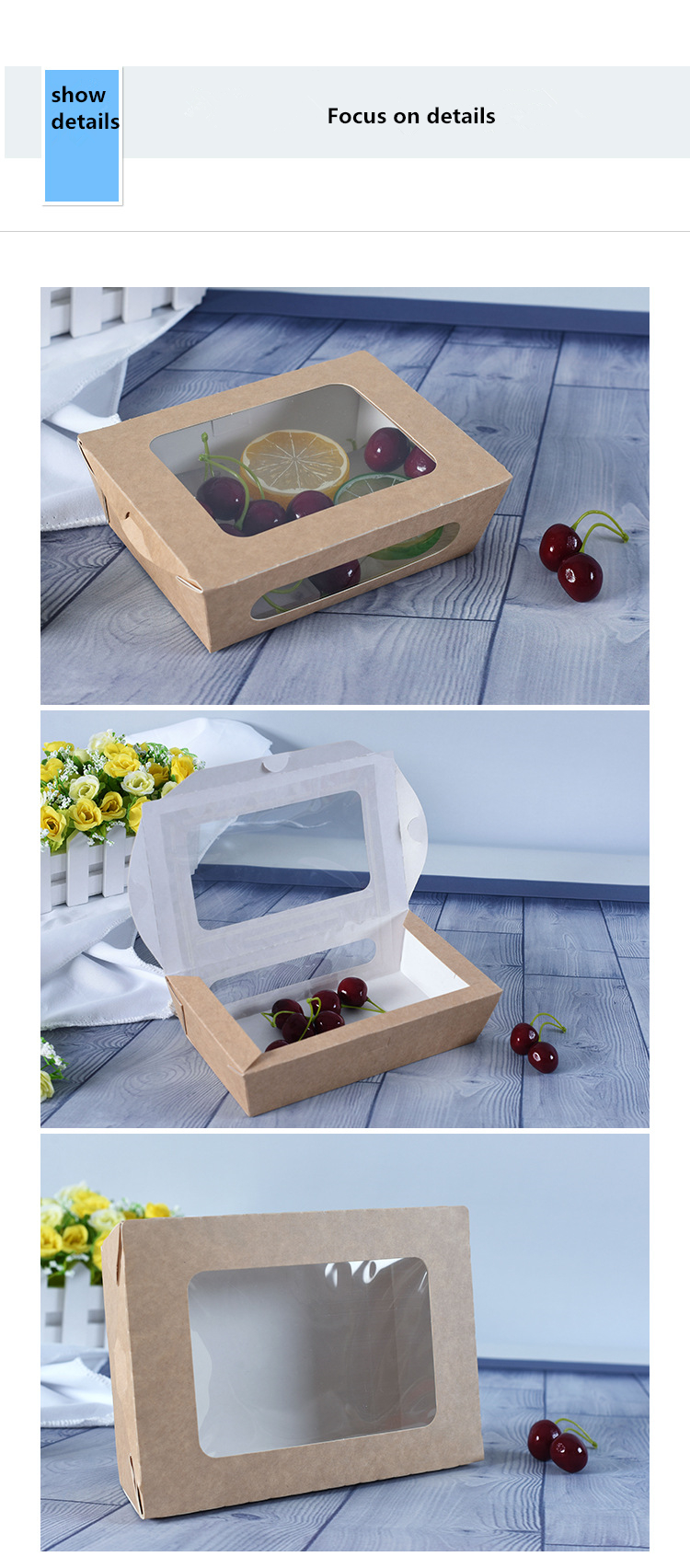 Cake Boxes Boards Set 10 Sturdy Cake Boxes 10 x 10 x 5 & 10 Inch Cake Boards brown paper bag with Window