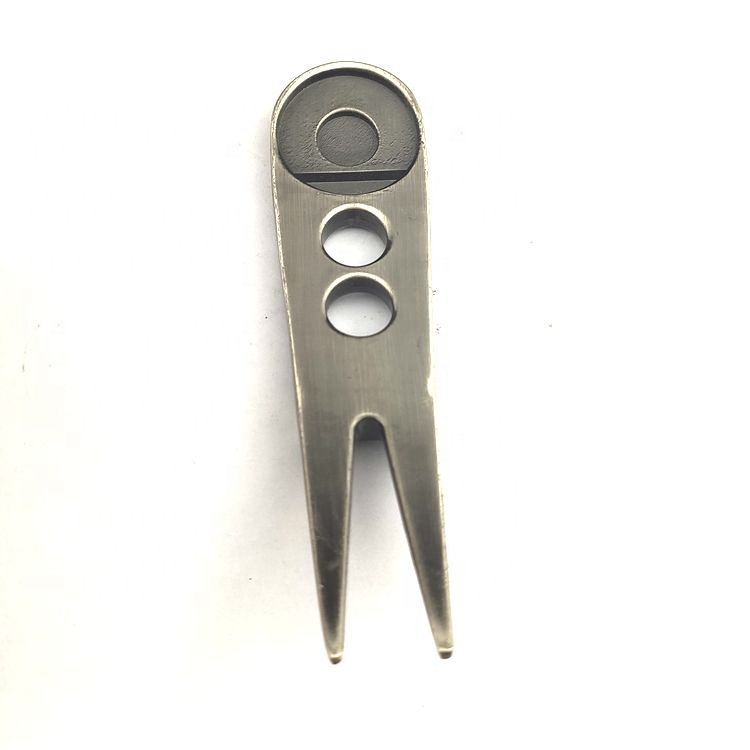 Custom wholesale metal bulk golf accessories,divot tool souvenir