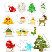 Christmas Theme Hot Sell Beautiful Xmas Cookie Cut Set Cake Molds